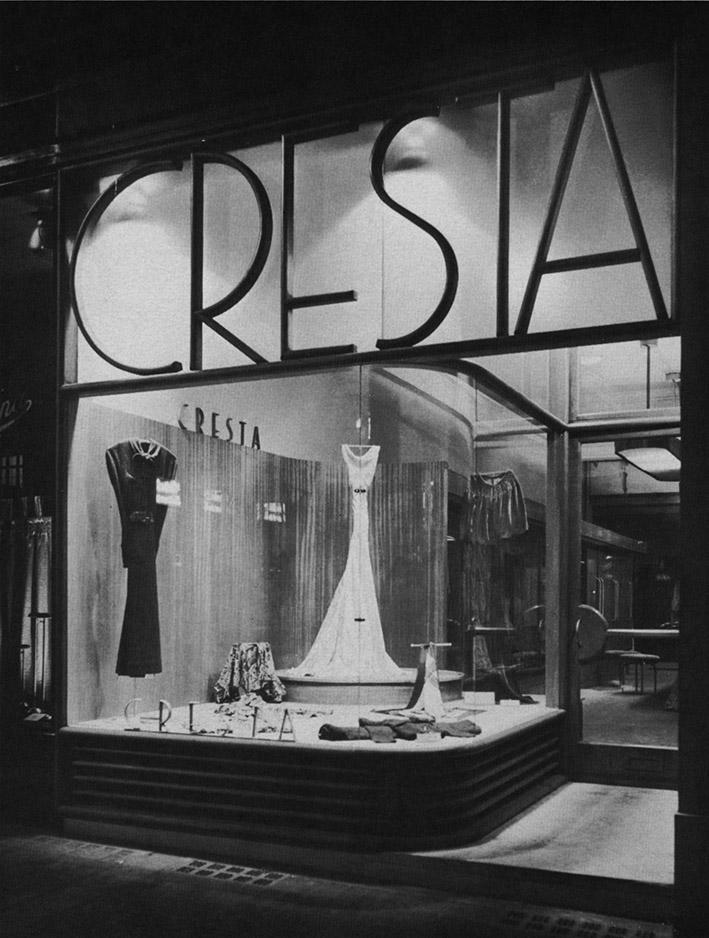 Wells Coates, negozio Cresta Silks a Londra, 1931.